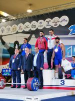 Чемпионат России по тяжелой атлетике - 2019 в Новосибирске. Давид Беджанян - серебро